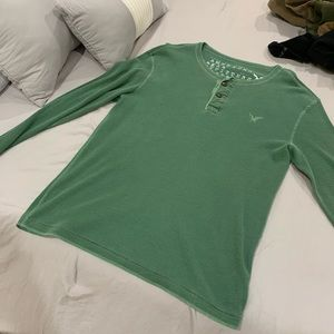 American Eagle Outfitters thermal 2 button top